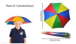 Kid's Umbrella Hat (Multicolour), 1 Pc
