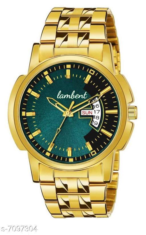 Gold chain dt man's watch
