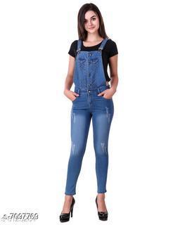 Ansh Fashion Wear Women's Denim Dungarees
