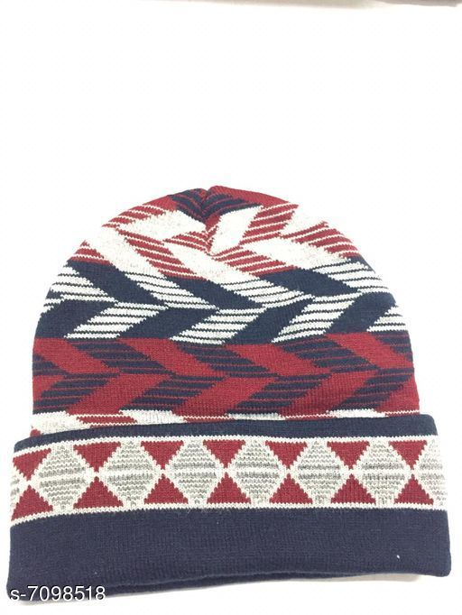 Caps & Hats Woolen knitted caps  *Material* Wool  *Multipack* 1  *Sizes* Free Size  *Sizes Available* Free Size *    Catalog Name: Fancy Latest Men Caps & Hats CatalogID_1133000 C65-SC1229 Code: 941-7098518-