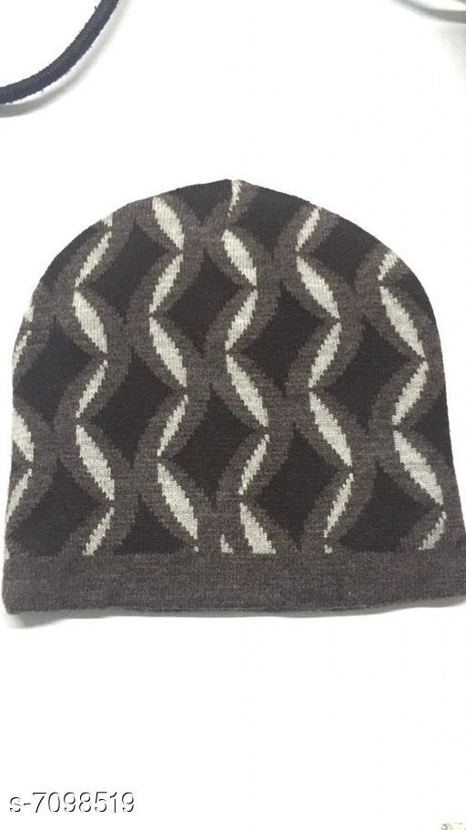 Caps & Hats Woolen knitted caps  *Material* Wool  *Multipack* 1  *Sizes* Free Size  *Sizes Available* Free Size *    Catalog Name: Fancy Latest Men Caps & Hats CatalogID_1133000 C65-SC1229 Code: 941-7098519-