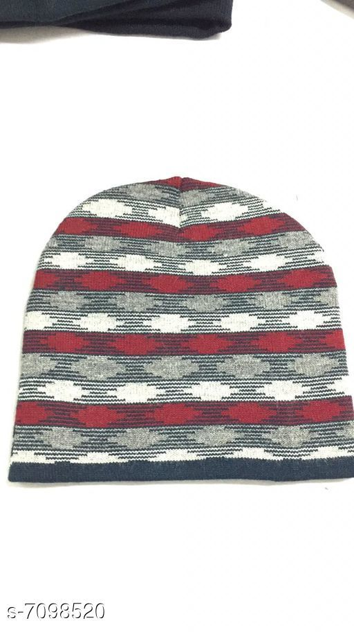 Caps & Hats Woolen knitted caps  *Material* Wool  *Multipack* 1  *Sizes* Free Size  *Sizes Available* Free Size *    Catalog Name: Fancy Latest Men Caps & Hats CatalogID_1133000 C65-SC1229 Code: 941-7098520-