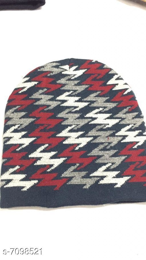 Caps & Hats Woolen knitted caps  *Material* Wool  *Multipack* 1  *Sizes* Free Size  *Sizes Available* Free Size *    Catalog Name: Fancy Latest Men Caps & Hats CatalogID_1133000 C65-SC1229 Code: 941-7098521-