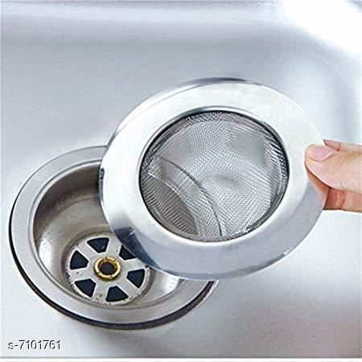 Rishtavia stainless Steel Strainer Kitchen Drain Basin Basket Filter Stopper Drainer Sink Jali, 9 cm