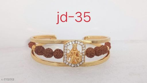 Jewellery Bracelet  *Base Metal* Alloy  *Multipack* 1  *Sizes*   *Sizes Available* Free Size *    Catalog Name: Styles Unique Men Jewellery CatalogID_1133611 C65-SC1227 Code: 742-7102382-