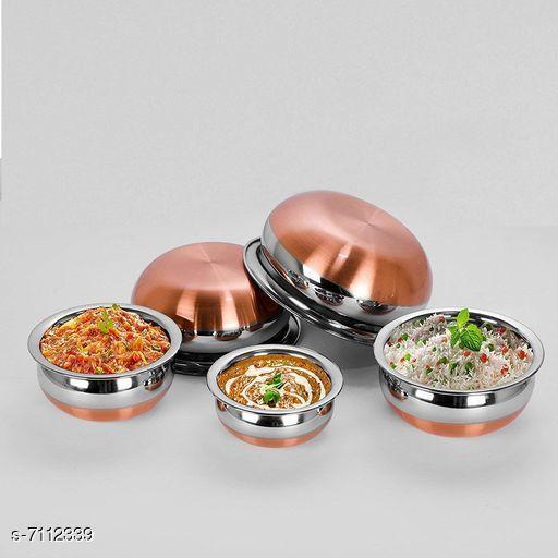 Copper Bottom Handi Pot 5 Piece Set/Steel Handi Set