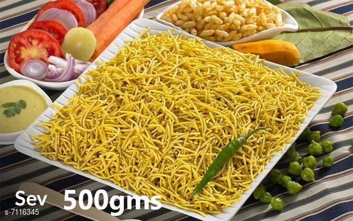 Dals & Pulses Nylon Sev 500gms Nylon Sev 500gms  *Sizes Available* Free Size *    Catalog Name: Check out this trending catalog CatalogID_1135975 C89-SC1770 Code: 755-7116345-