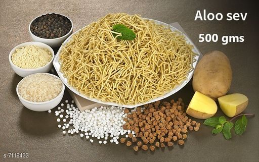 Dals & Pulses Aloo Sev 500gms Aloo Sev 500gms  *Sizes Available* Free Size *    Catalog Name: Check out this trending catalog CatalogID_1135986 C89-SC1770 Code: 585-7116433-