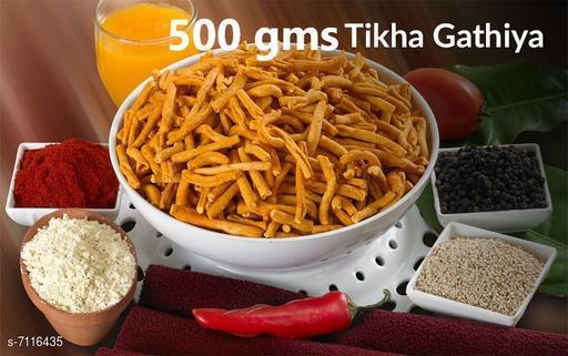Dals & Pulses Tikkha Gathiys 500gms Tikkha Gathiys 500gms  *Sizes Available* Free Size *    Catalog Name: Check out this trending catalog CatalogID_1135986 C89-SC1770 Code: 835-7116435-