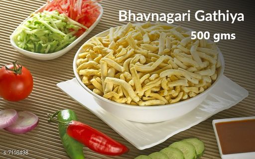 Dals & Pulses Bhavnagari Gathiya 500gms Bhavnagari Gathiya 500gms  *Sizes Available* Free Size *    Catalog Name: Check out this trending catalog CatalogID_1135986 C89-SC1770 Code: 005-7116438-