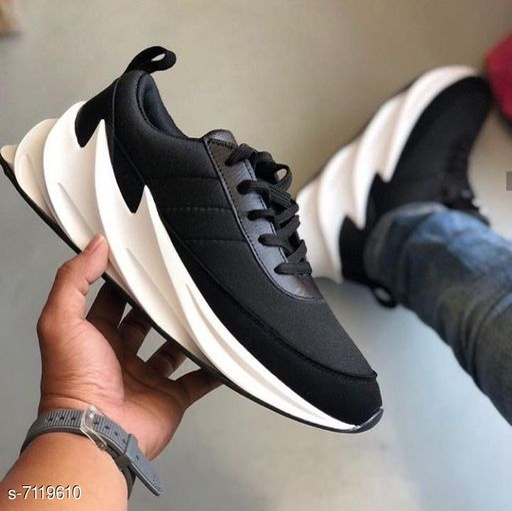 Stylish Men's Black Casual Shoes