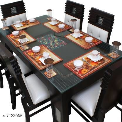 Kitchen Mat PVC Table Placemats & Coasters  *Material* PVC  *pack* Pack of 12  *Size * 18x12 Inches (LXB)  *Sizes Available* Free Size *    Catalog Name: Fancy Kitchen Mat CatalogID_1137081 C129-SC1635 Code: 382-7123006-