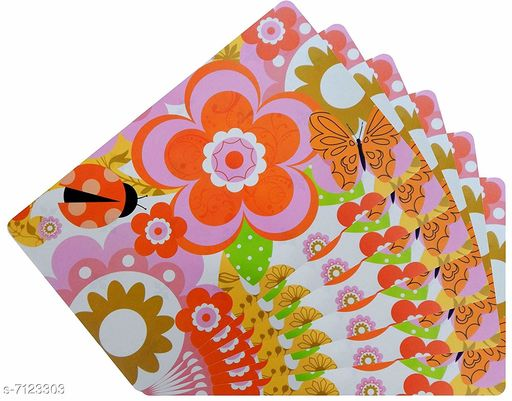 Kitchen Mat PVC Table Placemats  *Material* PVC  *Pack* Pack of 6  *Size * 18x12 Inches (LXB)  *Sizes Available* Free Size *    Catalog Name: Modern Kitchen Mat CatalogID_1137135 C129-SC1635 Code: 091-7123303-