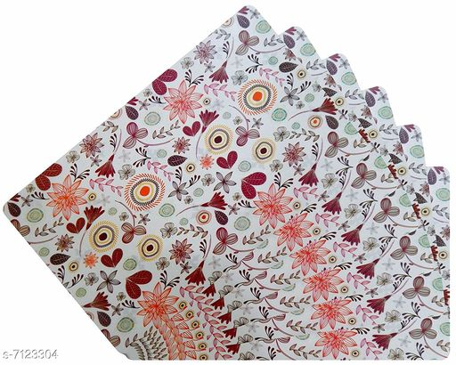 Kitchen Mat PVC Table Placemats  *Material* PVC  *Pack* Pack of 6  *Size * 18x12 Inches (LXB)  *Sizes Available* Free Size *    Catalog Name: Modern Kitchen Mat CatalogID_1137135 C129-SC1635 Code: 091-7123304-