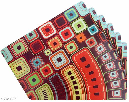 Kitchen Mat PVC Table Placemats  *Material* PVC  *Pack* Pack of 6  *Size * 18x12 Inches (LXB)  *Sizes Available* Free Size *    Catalog Name: Modern Kitchen Mat CatalogID_1137135 C129-SC1635 Code: 091-7123307-