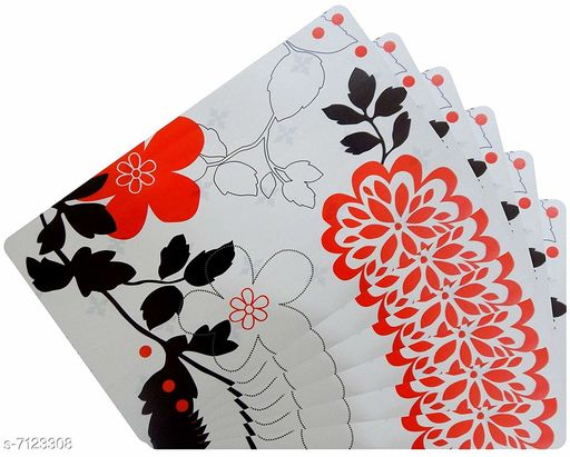 Kitchen Mat PVC Table Placemats  *Material* PVC  *Pack* Pack of 6  *Size * 18x12 Inches (LXB)  *Sizes Available* Free Size *    Catalog Name: Modern Kitchen Mat CatalogID_1137135 C129-SC1635 Code: 091-7123308-