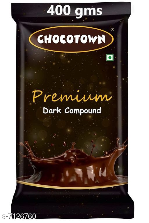 Biscuits & bakery Dark Chocolate Compound(400gms) Dark Chocolate Compound(400gms)  *Sizes Available* Free Size *   Catalog Rating: ★3.6 (10)  Catalog Name: Check out this trending catalog CatalogID_1137702 C89-SC1775 Code: 975-7126760-