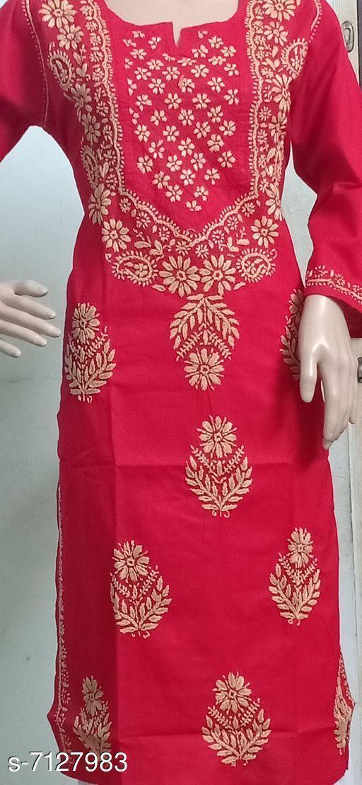 Women's Chikankari Cotton Kurti