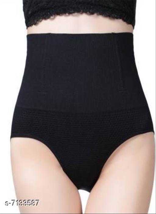 Trendy Cotton Spendex Tummy Tucker-Black