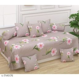 Stylish Printed Pure Cotton 90 X 60 Diwan Set