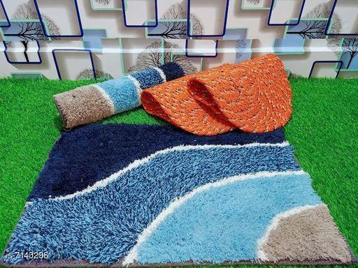 Doormats & Bath Mats Stylish Modern Doormats  *Material* Cotton  *Multipack* Pack of 4  *Rectangular Doormats Sizes*   *Free Size (Length Size* 60 cm, Width Size  *Oval Doormats Sizes*   *Free Size (Length Size* 53 cm, Width Size  *Description* It has 2 Rectangular Doormats and 2 Oval Doormats  *Sizes Available* Free Size *   Catalog Rating: ★3.6 (18)  Catalog Name: Free Mask Stylish Modern Doormats CatalogID_1140405 C55-SC1118 Code: 403-7143296-