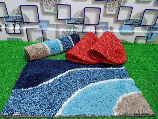Doormats & Bath Mats Stylish Modern Doormats  *Material* Cotton  *Multipack* Pack of 4  *Rectangular Doormats Sizes*   *Free Size (Length Size* 60 cm, Width Size  *Oval Doormats Sizes*   *Free Size (Length Size* 53 cm, Width Size  *Description* It has 2 Rectangular Doormats and 2 Oval Doormats  *Sizes Available* Free Size *   Catalog Rating: ★3.6 (18)  Catalog Name: Free Mask Stylish Modern Doormats CatalogID_1140405 C55-SC1118 Code: 403-7143299-