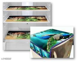Multiporpose Designer Mats for Fridge/Refrigraotr Drawer  Mats Combo