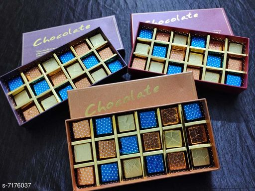 Biscuits & bakery Large Chocolate Boxes 3  *Material * Chocolate is made of Cocoa  *Capacity * 1200g  *Multipack* 3  *Sizes Available* Free Size *    Catalog Name: Delicious Homemade Chocolates CatalogID_1145139 C89-SC1775 Code: 7441-7176037-