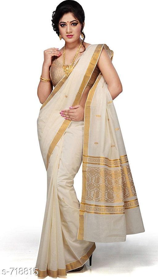 Attractive Cotton Zari Saree