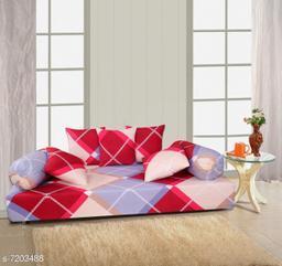 Stylish Printed Glace Cotton 88 X 58 Diwan Set