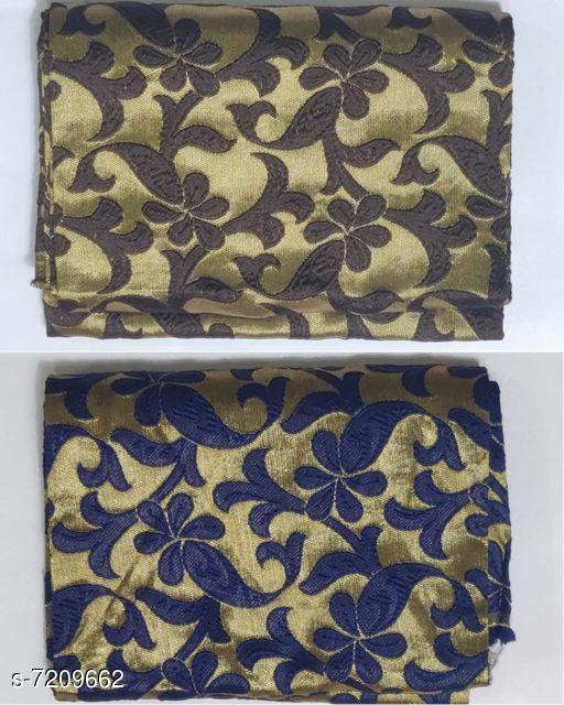 Blouse Piece Stylish Jacquard Blouse   *Fabric* Jacquard  *Multipack* 2  *Sizes* (Blouse Length Free Size  *Sizes Available* Free Size *    Catalog Name: Chitrarekha Fashionable Women Blouses CatalogID_1151059 C74-SC1391 Code: 442-7209662-