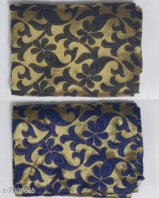 Blouse Piece Stylish Jacquard Blouse   *Fabric* Jacquard  *Multipack* 2  *Sizes* (Blouse Length Free Size  *Sizes Available* Free Size *    Catalog Name: Chitrarekha Fashionable Women Blouses CatalogID_1151059 C74-SC1391 Code: 442-7209665-