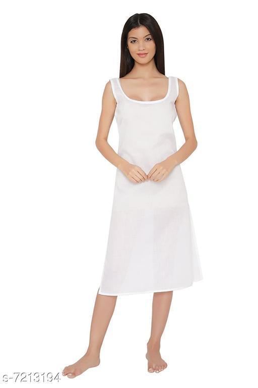 Women Cotton Slip White