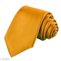 Billebon Men's Satin Tie (F-5_Gold_One Size)