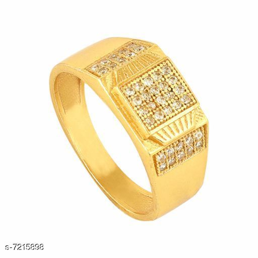 18k Gold Plated Stylish American Fitting Diamond Ring For Men