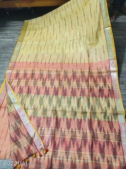 Fancy Printed Cotton Saree