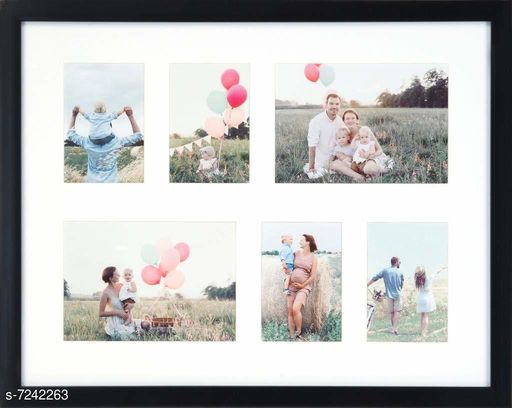 Ayoga 14x18 Black Collage Picture Frame-(Fits four 3x4.5, two 4.5x6.5 size photos)