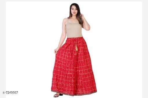 Skirts Trendy Womens Skirts  *Fabric* Cotton  *Pattern* Printed  *Multipack* 1  *Sizes*   *Free Size (Length Size* 40 in)  *Sizes Available* Free Size *    Catalog Name: Trendy Womens Skirts CatalogID_1158619 C79-SC1040 Code: 393-7249667-