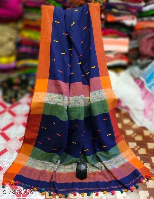 Trendy Khadi Cotton Saree