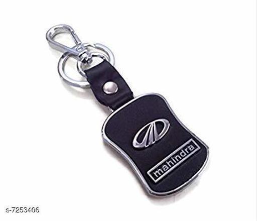 Advikavya Mahindra Black Leather Keychain