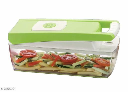 Vegetable & Fruit Chipser With 11 Blades + 1 peeler inside, vegetable chopper, vegetable slicer, (GREEN)