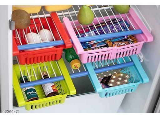 Mobile Holders 4 pcs Fridge Drawer Box   *Material* Plastic  *Sizes*  Free Size  *Sizes Available* Free Size *    Catalog Name: Classy Racks & Holders CatalogID_1162429 C99-SC1383 Code: 864-7269471-