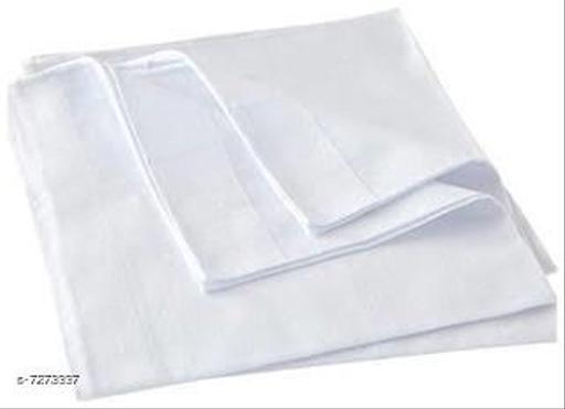 100% Cotton White Handkerchief for mens