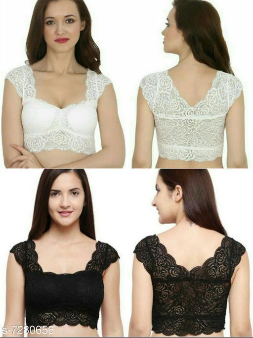 Women Trendy Stylish Lace Blouse(Pack of 2)