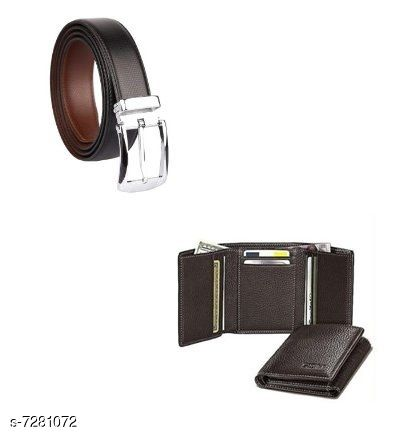 Samm & Moody Formal Leather Belts and Wallets Combo
