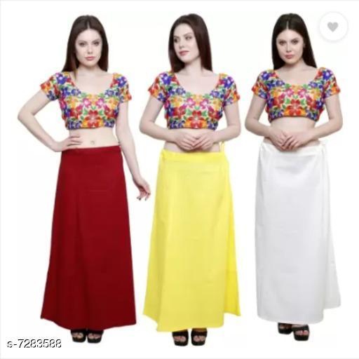 Ethnic Bottomwear - Petticoats PURE COTTON PETTICOAT  *Fabric* Cotton  *Pattern* Solid  *Multipack* 3 PETTICOAT  *Sizes*  Free Size  *Sizes Available* Free Size *   Catalog Rating: ★3.3 (6)  Catalog Name: Stylish Women Petticoats CatalogID_1165149 C74-SC1019 Code: 534-7283588-
