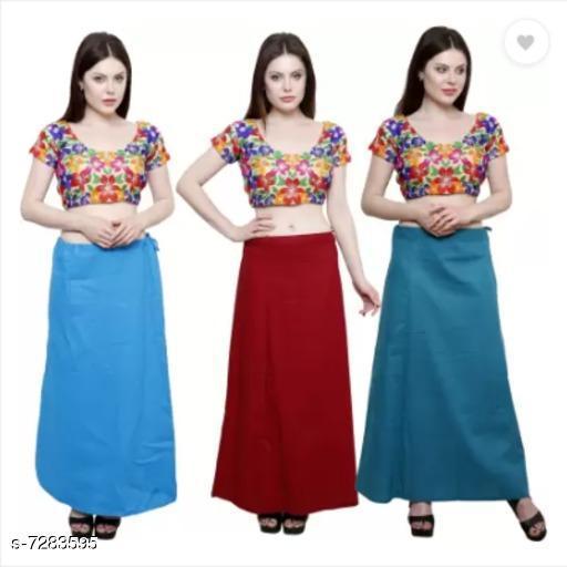 Ethnic Bottomwear - Petticoats PURE COTTON PETTICOAT  *Fabric* Cotton  *Pattern* Solid  *Multipack* 3 PETTICOAT  *Sizes*  Free Size  *Sizes Available* Free Size *   Catalog Rating: ★3.3 (6)  Catalog Name: Stylish Women Petticoats CatalogID_1165149 C74-SC1019 Code: 534-7283595-