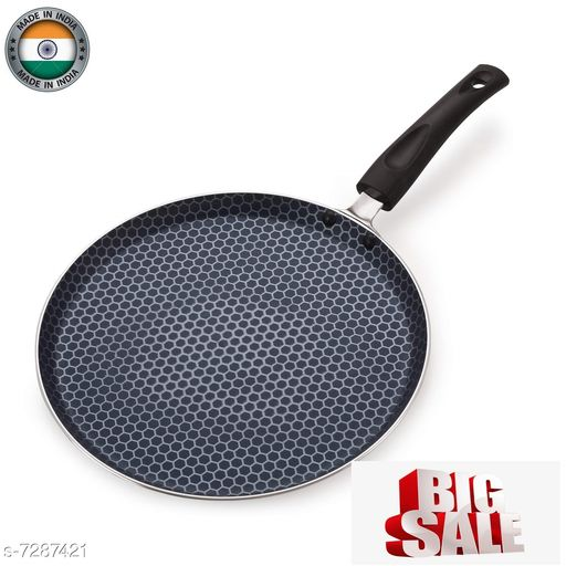 Nirlon Honeycomb Non Stick Cookware Kitchen Accessories Aluminium Flat Tawa 26cm