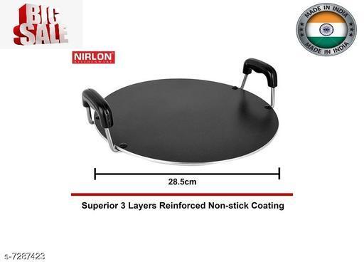 NIRLON Non Stick Cookware Saral Tawa 28cm*1.8cm (3 Layered non stick Coated)
