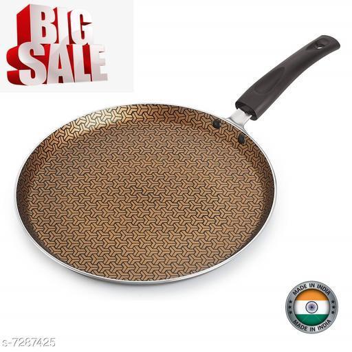 Nirlon Majesty Non Stick Cookware Kitchen Accessories Aluminium Flat Tawa 26cm
